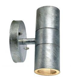 Markslöjd DAN kültéri fali lámpa, galvanizált, GU10, 2x35W 104778