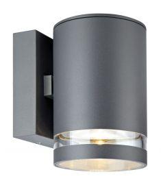 Markslöjd IRIS kültéri fali LED lámpa, sötét szürke, LED, 6W 106515