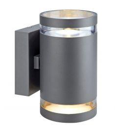 Markslöjd IRIS kültéri fali LED lámpa, sötét szürke, LED, 2x6W 106516