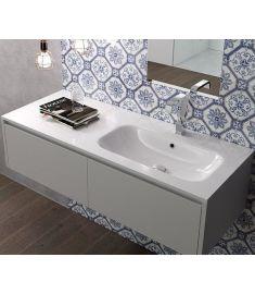 Marmy ASPEN öntött márvány aszimmetrikus mosdó, jobbos, 120x46 cm 80 7288 12 21 10