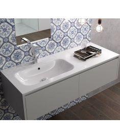 Marmy ASPEN öntött márvány aszimmetrikus mosdó, balos, 120x46 cm 80 7289 12 31 10