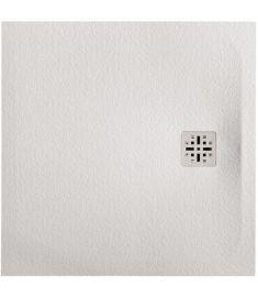 Marmy DOLOMITE szögletes, öntött márvány zuhanytálca, 90x90 cm, matt fehér 80 7642 90 90 50