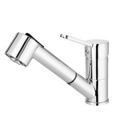 Deante NARCYZ mosogató csaptelep, kihúzható zuhanyfejes, króm BDN071M