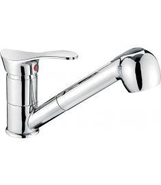 Ferro PADWA mosogató csaptelep, kihúzható zuhanyfejes, króm BTP8
