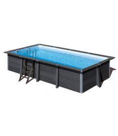PONTAQUA négyszögletes kompozit medence, 674x368x124 cm, homokszűrős vízforgatóval FFA 918