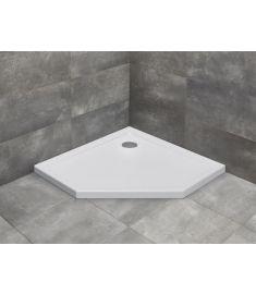Radaway DOROS PT ötszögletű, akril zuhanytálca, szifonnal, 90x90x5 cm SDRPT9090-01