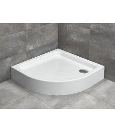 Radaway LAROS A íves, akril zuhanytálca, lábakkal, szifonnal, 85x85 cm SLA8585-01