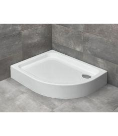 Radaway LAROS E íves, akril zuhanytálca, lábakkal, szifonnal, balos, 100x80 cm SLE81017-01L