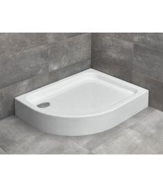 Radaway LAROS E íves, akril zuhanytálca, lábakkal, szifonnal, jobbos, 100x80 cm SLE81017-01R