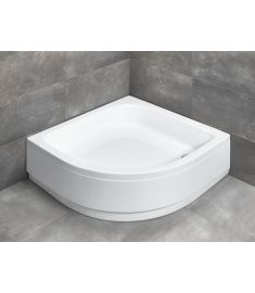 Radaway SAMOS A íves, akril zuhanytálca, lábakkal, előlappal, szifonnal, 90x90 cm 4S99300-03
