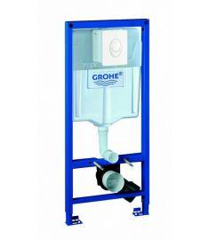 Grohe RAPID SL falba építhető WC tartály, 1,13 m, fehér SKATE AIR nyomólappal szett 38764001(F)