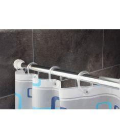 Ridder teleszkópos zuhanyfüggöny tartó, 110-185 cm, aluminium, króm 55200