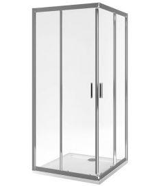 Excellent SERIA 201 szögletes zuhanykabin, 80x80x190 cm, edzett üveg, átlátszó/króm KAAC.1802.800