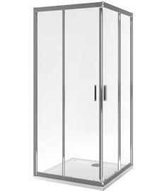 Excellent SERIA 201 szögletes zuhanykabin, 90x90x190 cm, edzett üveg, átlátszó/króm KAAC.1802.900