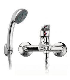 Ferro SMILE fali kádtöltő csaptelep, zuhanyszettel, króm BSM11