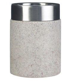 Ridder STONE Ecru fogmosópohár, kőhatású, bézs/inox 22010111