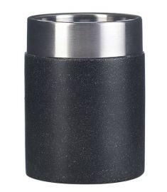 Ridder STONE Black fogmosópohár, kőhatású, fekete/inox 22010110