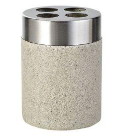 Ridder STONE Ecru fogkefetartó, kőhatású, bézs/inox 22010211