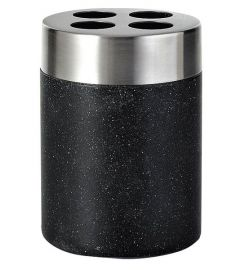 Ridder STONE Black fogkefetartó, kőhatású, fekete/inox 22010210