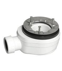 Sapho Extra lapos zuhanyszifon lapos zuhanytálcához, átmérő 90 mm, inox karimával 71672