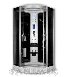Sanimix íves hidromasszázs zuhanykabin, 100x100x222 cm, elektronikával 22.8318
