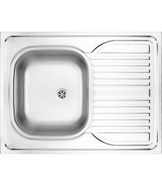 Deante TANGO egymedencés mosogató, csepegtetővel, rozsdamentes, 80x60x15 cm, textil hatású ZM63110