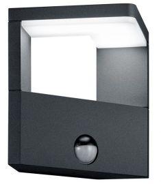 Trio GANGES kültéri fali lámpa, LED, mozgásérzékelős, SMD, 1x9W, antracit 221769142