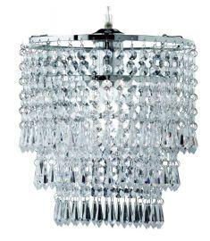 Trio ORIENT függőlámpa, kristály, króm, d25 cm, E27, 1x60W R1147-06