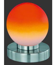 Trio PRINZ asztali lámpa, E14, 1x40W, 4 Level touch, matt nikkel-narancssárga R5400-18