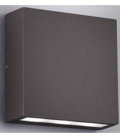 Trio THAMES kültéri fali lámpa, LED, 14x14 cm, COB, 2x3W, antracit szürke 229360242