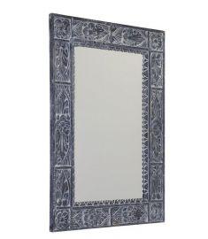Sapho UBUD tükör, fa kerettel, 70x100 cm, antikolt szürke, IN231