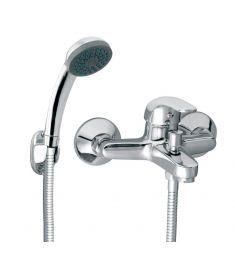 Ferro VASTO fali kádtöltő csaptelep, zuhanyszettel, króm BVA11