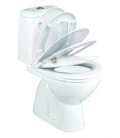 Vidima SIRIUS Elegance monoblokkos WC, alsó kifolyású, lecsapódásgátlós ülőkével W908201
