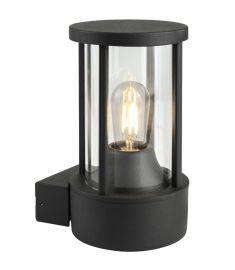Viokef ASPEN kültéri fali lámpa, E27, 1x60W, sötétszürke/átlátszó, 4198400