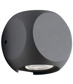 Viokef BALLITO kültéri fali lámpa, LED, 2x2W, sötétszürke, 4210901
