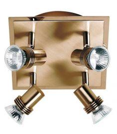 Viokef CHA-CHA spot lámpa, GU10, 4x50W, arany színű 462001