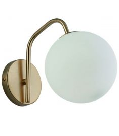 Viokef GLOBE fali lámpa, E14, 1x7W, fehér/arany 3094600