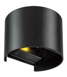 Viokef GREG kültéri fali lámpa, LED, 6W, fekete, 4188701