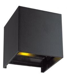 Viokef GREG kültéri fali lámpa, LED, 6W, fekete, 4188801