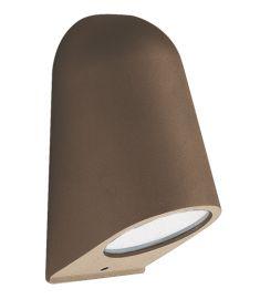 Viokef HYDRA kültéri fali lámpa, GU10, 1x35W, barna 4136202