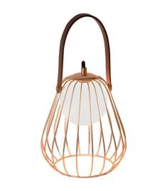 Viokef LEVIK asztali lámpa, G9, 1x40W, barna/arany, 4195700
