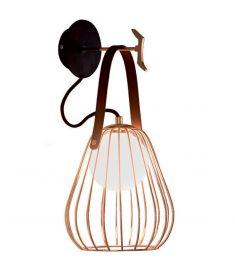Viokef LEVIK fali lámpa, G9, 1x40W, fekete/barna/arany, 4195600