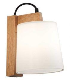 Viokef MONDO fali lámpa, E14, 1x28W, fa/fehér 3081900