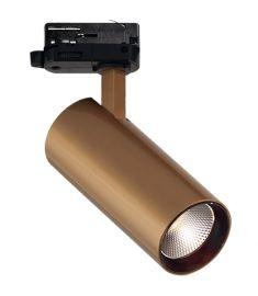 Viokef NESTOR sínes spot lámpa, LED, 30W, arany, 4214802
