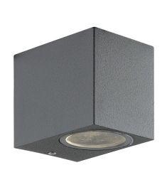 Viokef TILOS kültéri fali lámpa, GU10, 1x35W, sötét szürke 4099500