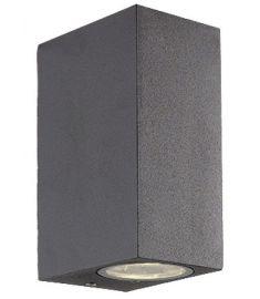 Viokef TILOS kültéri fali lámpa, GU10, 2x35W, sötét szürke 4099400