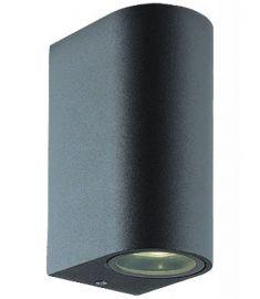 Viokef TILOS kültéri fali lámpa, GU10, 2x35W, sötét szürke 4099600
