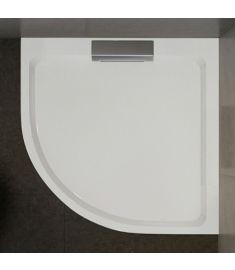 Wasserburg PETRA zuhanytálca, öntött műmárvány, íves, 90x90x3.5 cm, 2503-90