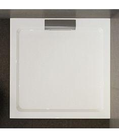 Wasserburg PETRA zuhanytálca, öntött műmárvány, szögletes, 80x80x3.5 cm, 2505-80