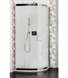 Wasserburg WB02 zuhanykabin, íves, 90x90x190 cm, 6 mm-es biztonsági üveg, 2502-90